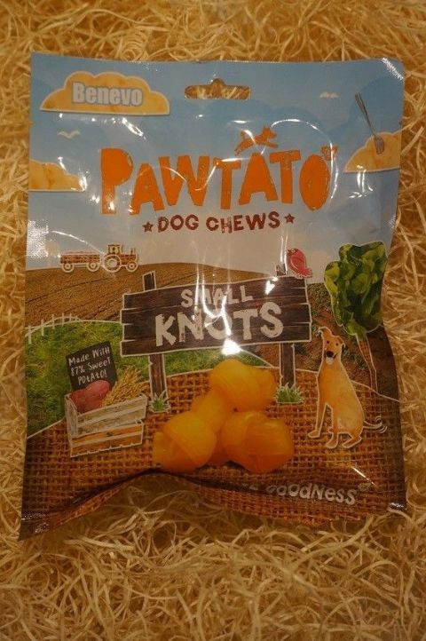 Vegetarian, Vegan & Gluten free Dog treats Pawtato Sweet Potato small knots